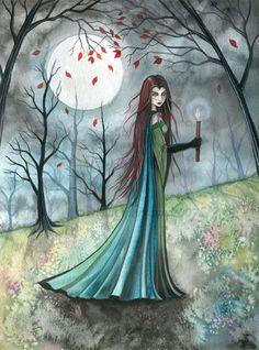 Fantasy Art: Autumn Wood by Artist Molly Harrison