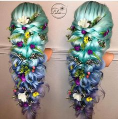 Wish I could do this to my hair - Haare - Hair Color Pretty Hairstyles, Braided Hairstyles, Mermaid Hairstyles, Fantasy Hairstyles, Teenage Hairstyles, Men Hairstyles, Pelo Multicolor, Pinterest Hair, Cool Hair Color