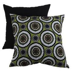 @Overstock - This decorative pillow from Pillow Perfect is sure to be a great accent in any room. Black, white, and blue medallions adorn the green background of this handsome throw pillow.  http://www.overstock.com/Home-Garden/Pillow-Perfect-Green-Medallions-Decorative-Pillow/6431232/product.html?CID=214117 $30.99