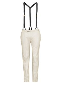 White pants with braces from HM Conscious Exclusive Collection 2013
