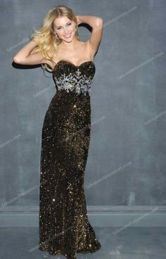 Black Open Back Fully Sequins Night Long Moves 7016 Prom Dresses