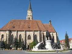 The Gothic cathedral may be the most bandwagoning church in Romania. Gothic Cathedral, St Michael, Romania, Notre Dame, Marvel, Mansions, House Styles, World, Building