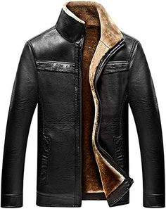 Winter Thick Warm Coat Men fur collar jackets and coats brand clothing jaqueta masculino inverno outerwear leather Jackets parka Fur Collar Jacket, Men's Leather Jacket, Leather Men, Leather Coats, Jacket Men, Brown Leather, Bomber Jacket, Winter Leather Jackets, Leather Jackets Online