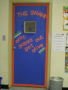 Snaps for Fourth Grade Gator Classroom & Painted for the gator themed classroom door. | Quotes | Pinterest ...