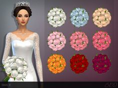 Sims 4 CC's - The Best: Tiara & Wedding Bouquet by Beo Creations