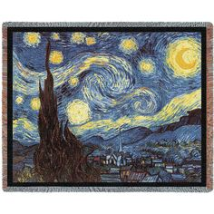 The Starry Night Blanket by ZoogSay on Etsy