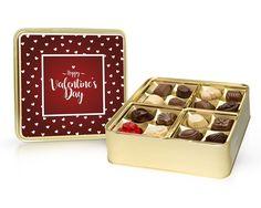 Happy Valentines Day 400g - zlatá plechová dóza Happy Valentines Day, Breakfast, Food, Morning Coffee, Essen, Meals, Yemek, Eten