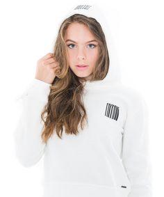 White sweater by Frankie & Liberty. Hooded Sweater, Logo Nasa, Liberty, Girls, Summer, Sweaters, Shopping, Black, Fashion