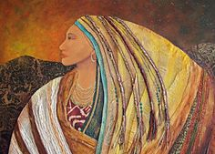 Lady Of The Mountains Art Print by Candy Mayer