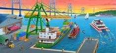 Grote praatplaat voor kleuters, thema haven