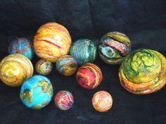 another felt solar system...