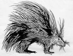 Leonard Baskin, Porcupine, 1951, woodcut