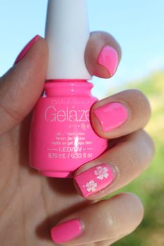 Instagram@blissfullbeauty gelaze by China glaze pink gel polish