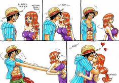 Luffy x Nami One Piece (c) Welcome home, LuNa One Piece Meme, One Piece Funny, One Piece Ship, Nami One Piece, One Piece Comic, One Piece Fanart, Dc Anime, Manga Anime One Piece, Chica Anime Manga