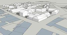 Réalisation d'une vue 3D d'une commune d'Ille et Vilaine avec SketchUp Stage, 3d, Architecture, Atelier, Arquitetura, Architecture Illustrations, Scene, Architecture Design, Architects