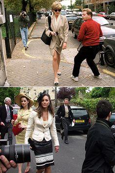 Pricess Diana then, Kate Middleton now.