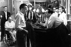 Lauren Bacall, Humphrey Bogart, and Lionel Barrymore in Key Largo Old Movies, Great Movies, Key Largo Movie, Classic Hollywood, Old Hollywood, Barton Maclane, Claire Trevor, Bogie And Bacall, Gangster Movies