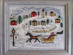 New England Winter by By The Bay Needleart by JJsCrossStitch, $12.00