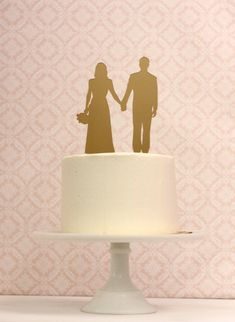 Simply Silhouettes can make a Custom Silhouette Wedding Cake Topper -  Personalized with YOUR OWN Silhouettes
