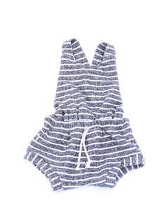 romper shortie in 'navy stripe'