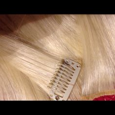clip in hair extensions real human hair platinum blonde clip in extensions  NOT FOR SALE Accessories Hair Accessories