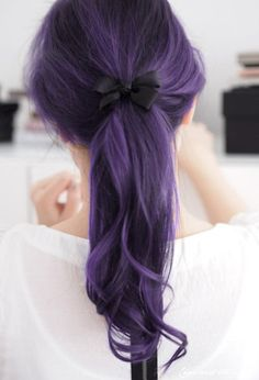 Purple Ponytail - I'm not cool enough to rock this, but @Kristy Sammis totally is!!! Love it. :)