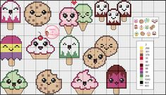 Cross Stitch Cow, Kawaii Cross Stitch, Cross Stitch Boards, Cross Stitch Kitchen, Counted Cross Stitch Patterns, Bead Loom Patterns, Craft Patterns, Crochet Chart, Loom Beading