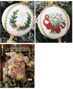 Ball Christmas Cross Stitch Ornaments