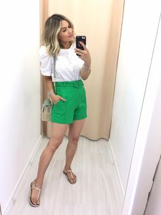 Summer Outfits Women, Short Outfits, Spring Outfits, Short Dresses, Look Con Short, Moda Vintage, I Love Fashion, Casual Looks, Ideias Fashion