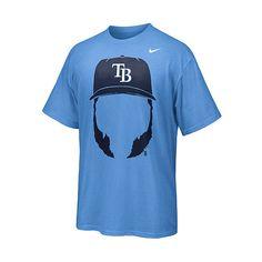 Tampa Bay Rays Hair-itage Luke Scott Player T-Shirt by Nike - MLB.com... via Polyvore