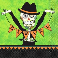 Day of the Dead Napkins | Halloween Party Supplies | Party Napkins Halloween Party
