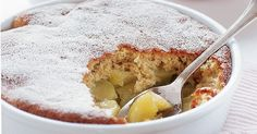 Baked apple sponge pudding - Serve warm apple pudding with creamy smooth ice-cream for an indulgent autumn dessert. Apple Sponge Pudding, Sponge Pudding Recipe, Pudding Recipes, Apple Recipes, Baking Recipes, Sweet Recipes, Dessert Recipes, Cake Recipes, Eves Pudding