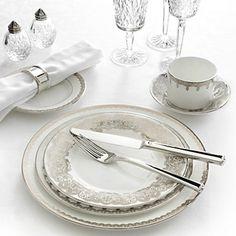 Waterford Lismore Lace Platinum Dinnerware | Bloomingdale's