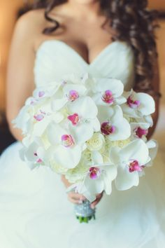 Photo: Vanessa Joy; Sparkling Fuchsia and Silver New Jersey Wedding The Rockleigh from Vanessa Joy - bridal bouquet