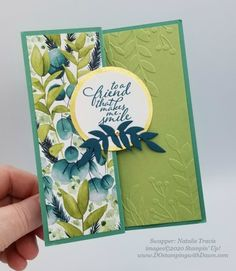 Fancy Fold Cards, Folded Cards, Leaf Cards, Watercolor Pattern, Card Maker, Paper Pumpkin, Coordinating Colors, Painting Patterns, Paper Cards