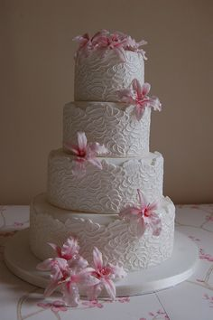 Lace wrap with sugar orchids by vanessa-anne, via Flickr