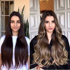 Long Hair Highlights, Brown Hair Balayage, Brown Blonde Hair, Hair Color Balayage, Brunette Hair, Ombre Hair, Bayalage, Rides Front, Honey Hair