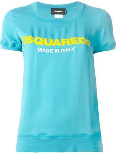 Shop DSQUARED2 logo T-shirt in Boutique Mantovani from the world's best independent boutiques at farfetch.com. Shop 300 boutiques at one address.