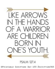 Children. Psalm 1274. 8x10in DIY Printable by AmenPrintables