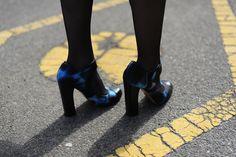 futuristic print heels // Nicholas Kirkwood