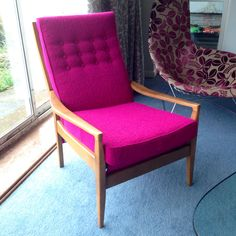 Mid Century Modern Danish Lounge Chair Redesign Picked Up