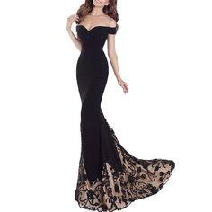 2017 New A Long Black Dress - BLACK XL