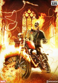Ghost Rider Fine Art Print by Brian Rood | Sideshow Collectibles Archie Comics, Marvel Comics, A Princess Of Mars, Alex Pardee, Abrams Books, Ghost Rider Marvel, Keys Art, Pop Culture Art, Sideshow Collectibles