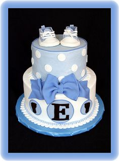 Baby Sneakers Baby Shower Cake