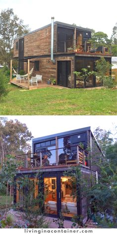 Cargo Container Homes, Shipping Container Home Designs, Building A Container Home, Container Buildings, Container Architecture, Container House Plans, Container House Design, Shipping Containers, Small House Floor Plans