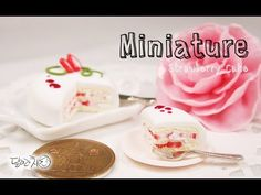 미니어쳐 딸기 케이크 만들기 Miniature * Strawberry Cake - YouTube Strawberry Cane
