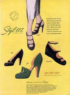 1948 Styl-EEZ shoe ad. #vintage #1940s #shoes #ads