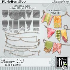 Banners CU Digital Scrapbooking Supplies by Kathryn Estry @ PickleberryPop  $6.99
