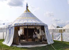 Astrida and Stephen Schaeffer have had one constant in their lives since meeting as college-aged teens. Through all the changes, marriage, having a child, Tent Design, Diy Design, House Design, Medieval Life, Medieval Fantasy, Camping Glamping, Camping Life, Larp, Renaissance