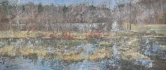 Raymond Berry: Gilmans, View from the River Bottom, February-March 2013, 33 x 77